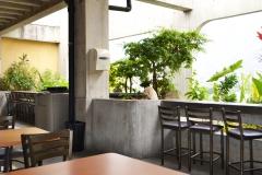 Terraza en piso 9 - comedor para empleados del HCC